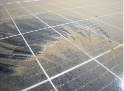 Dusted Solar Panel