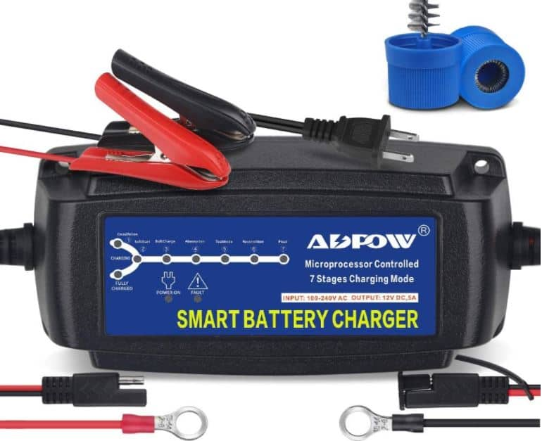 ADPOW 5A 12V Automatic Smart Battery Charger