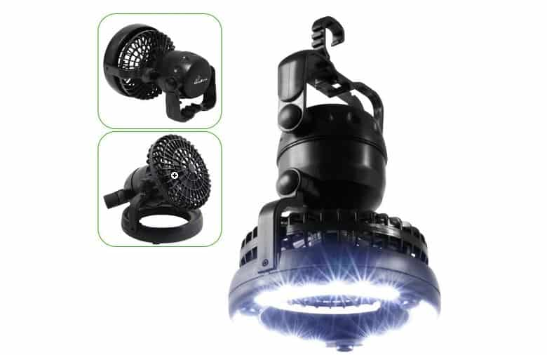 BTY Camping Light with Fan